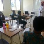 kunjungan syekh Nayif dari Madinah, dlm rangka memotivasi menghafal Al-Qur'an dan bahass Arab siswa